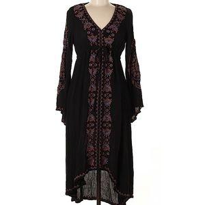 Free People Black Floral Dress, S